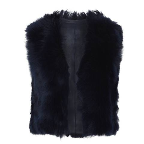 Gushlow & Cole Midnight Shearling Toscana Crop Gilet