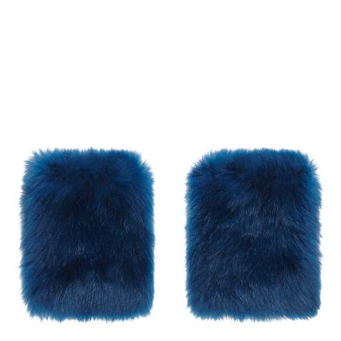 Gushlow & Cole Teal Blue Shearling Mini Mittens