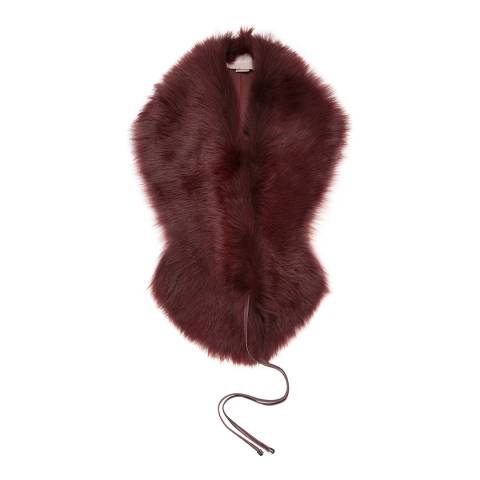 Gushlow & Cole Berry Shearling Shawl Scarf