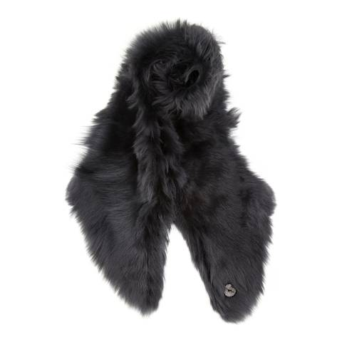 Gushlow & Cole Graphite Shearling Long Scarf