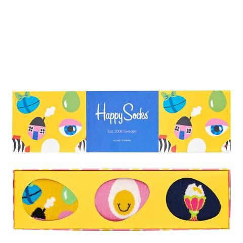 Happy Socks Multi 3 Pack Easter Gift Box