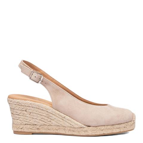 Oliver Sweeney Taupe Moja Suede Closed Toe Wedge Sandals