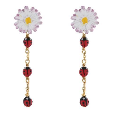 Les Néréides Gold Douce Prairie Drop Earrings