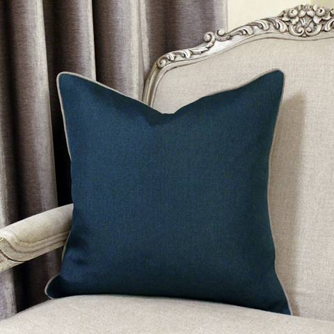 Paoletti Bellucci Cushion 45x45cm, Petrol and Tobacco