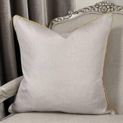 Paoletti Bellucci Cushion 55x55cm, Light Grey and Ochre