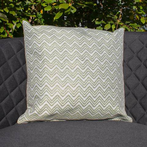 Maze Rattan Set of 2 Polines Green Fabric Scatter Cushion