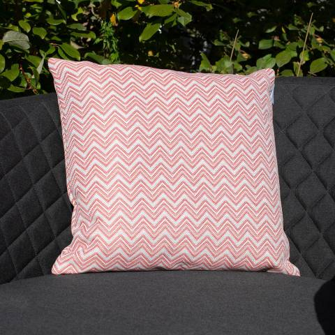 Maze Rattan Set of 2 Polines Red Fabric Scatter Cushion