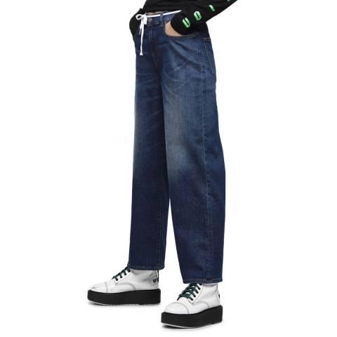 Diesel Dark Blue Widee Relaxed Fit Jeans
