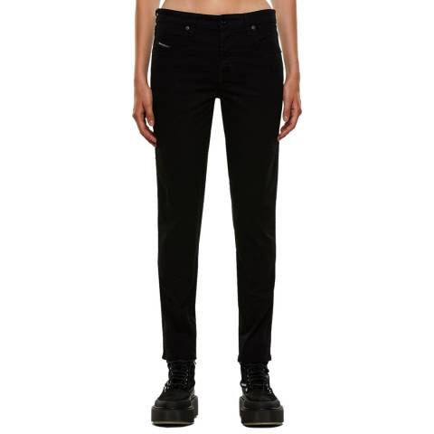 Diesel Black Babhila Slim-Skinny Stretch Jeans