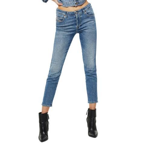 Diesel Wash Blue Babhila Slim-Skinny Stretch Jeans
