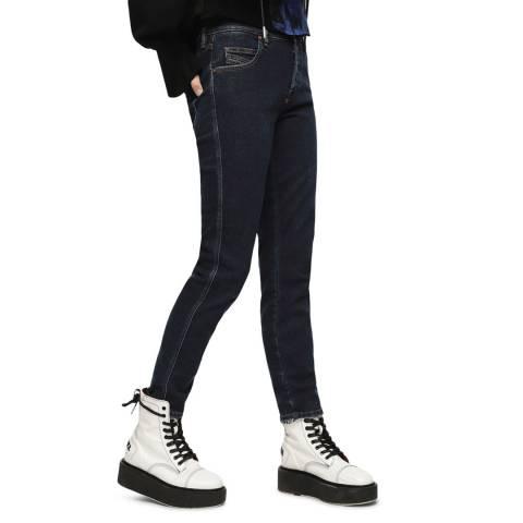 Diesel Dark Blue Babhila Slim-Skinny Stretch Jeans