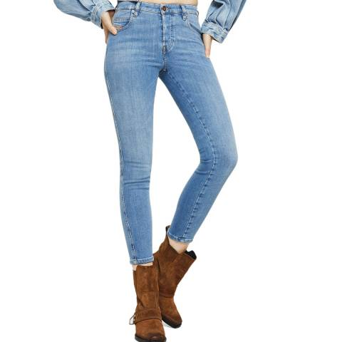 Diesel Light Blue Babhila Slim-Skinny Stretch Jeans