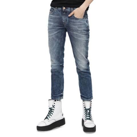 Diesel Blue Belthy Ankle Slim Stretch Jeans
