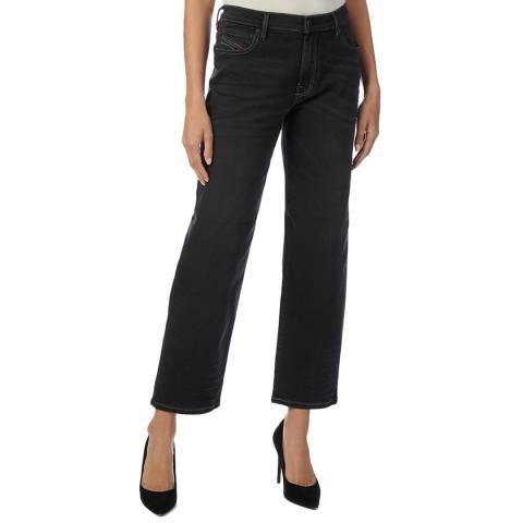 Diesel Black Niclah Straight Stretch Jeans