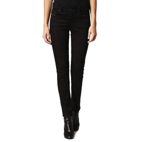 Diesel Black Sandy Slim-Straight Stretch Jeans