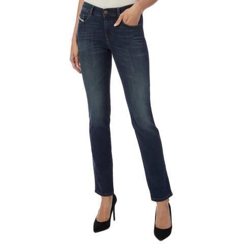 Diesel Blue Sandy Slim-Straight Stretch Jeans