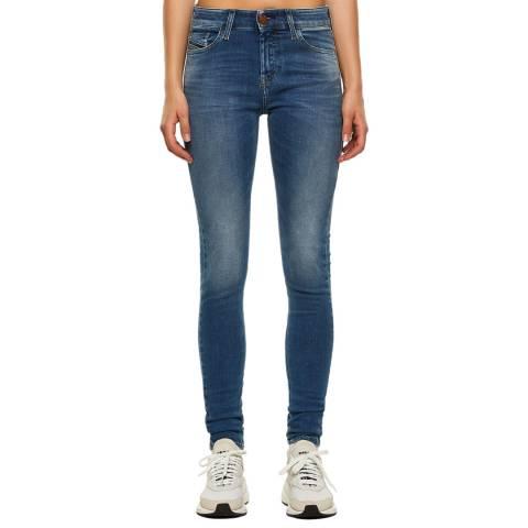 Diesel Blue Slandy Super Slim-Skinny Stretch Jeans