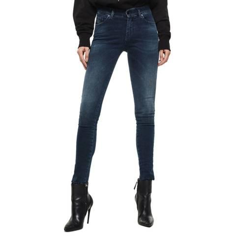 Diesel Dark Blue Slandy Super Slim-Skinny Jeans