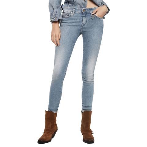 Diesel Light Blue Slandy Super Slim-Skinny Jeans