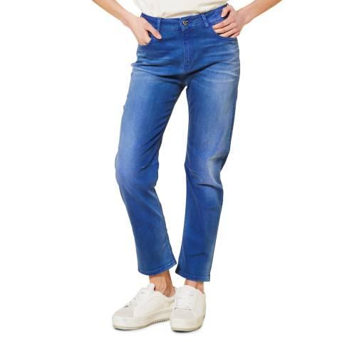 Twinset Bright Blue Girlfriend Stretch Jeans