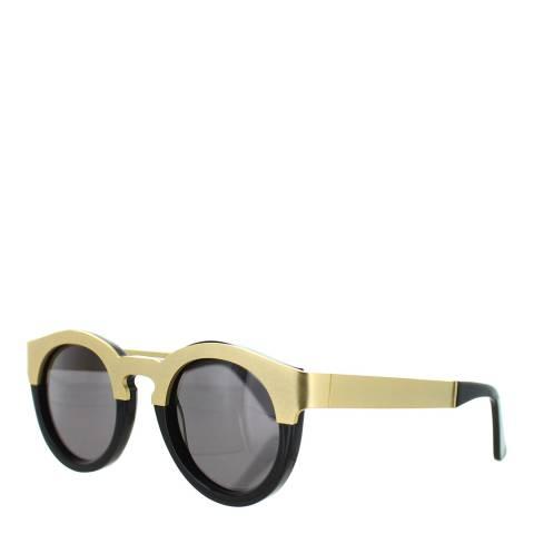 Sunday Somewhere Women's Yellow Gold/Black Sunglasses 46mm