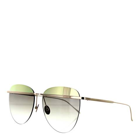 Sunday Somewhere Women's Brushed Rose Gold/Gold Brown Sunglasses 58mm
