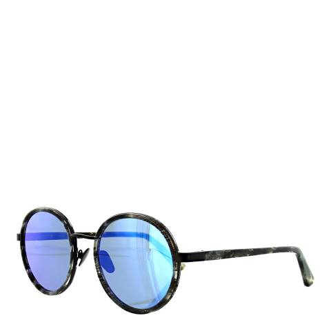 Sunday Somewhere Unisex Black Glitter/Purple/Blue Sunglasses 50mm