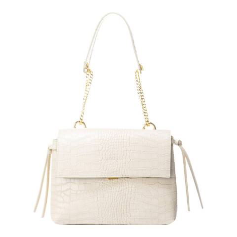 Giorgio Costa Beige Leather Top Handle Bag