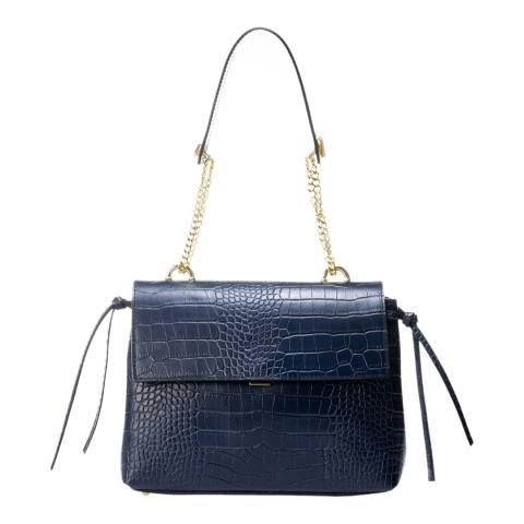 Giorgio Costa Blue Leather Top Handle Bag