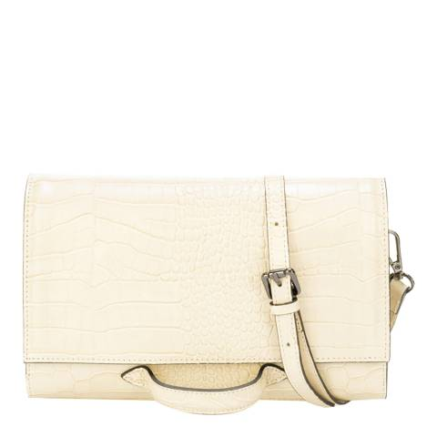 SCUI Studios Beige Leather Crossbody Bag