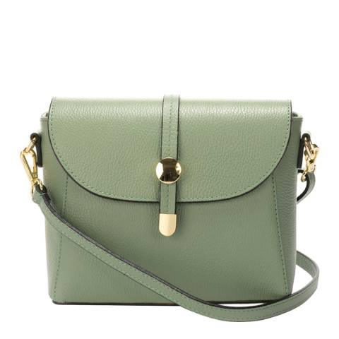 Lisa Minardi Mint Leather Crossbody  Bag