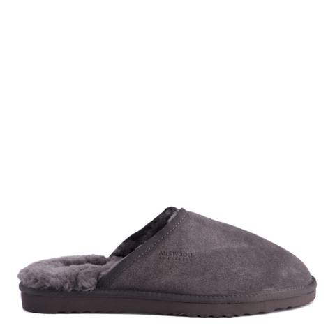Aus Wooli Dark Grey Manly Slippers