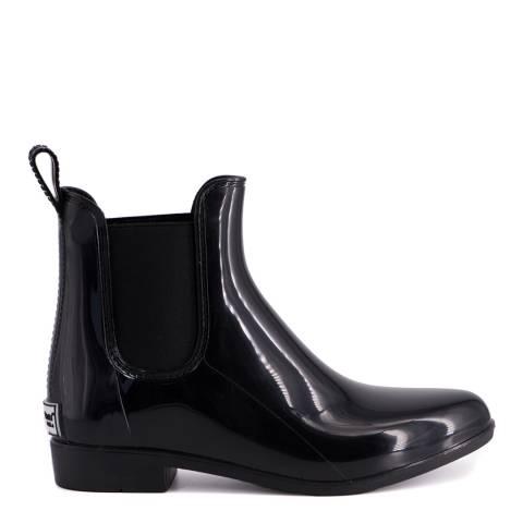 Aus Wooli Black Double Bay Rainboots