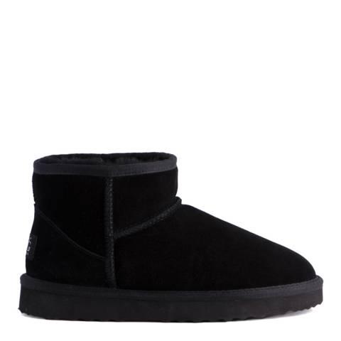 Aus Wooli Black Bondi Short Sheepskin Ankle Boot