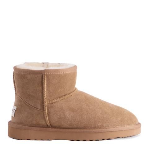 Aus Wooli Tan Bondi Short Sheepskin Ankle Boot