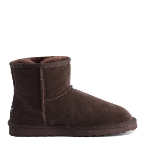 Aus Wooli Chocolate Bondi Short Sheepskin Ankle Boot