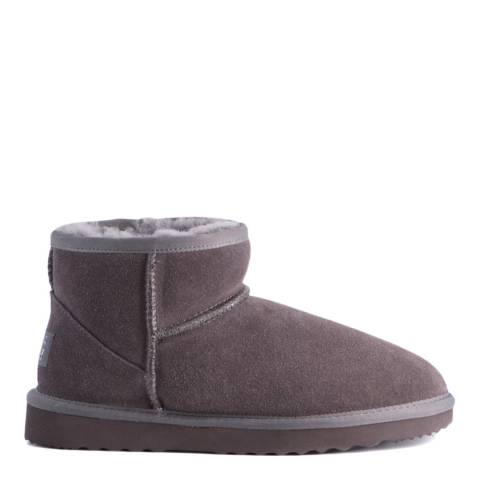 Aus Wooli Grey Bondi Short Sheepskin Ankle Boot