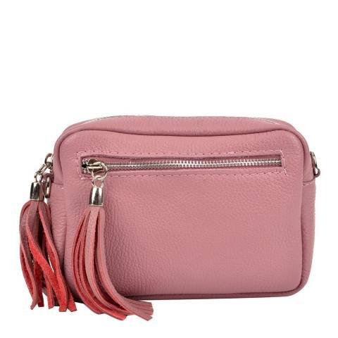 Isabella Rhea Pink Leather Crossbody Bag