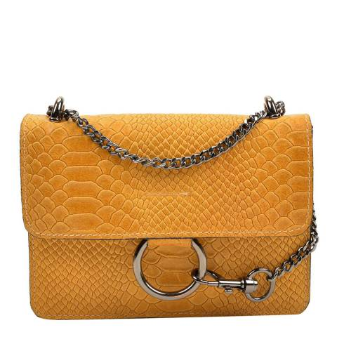 Carla Ferreri Yellow Leather Shoulder/Crossbody Bag