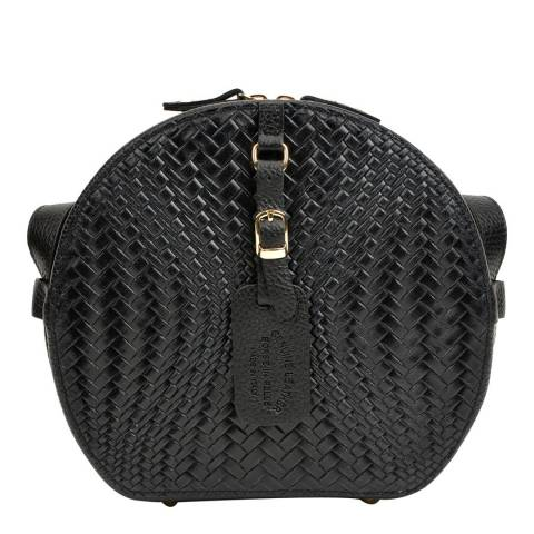 Roberta M Black Leather Crossbody Bag