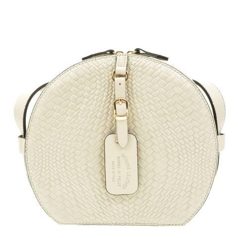 Roberta M Beige Leather Crossbody Bag
