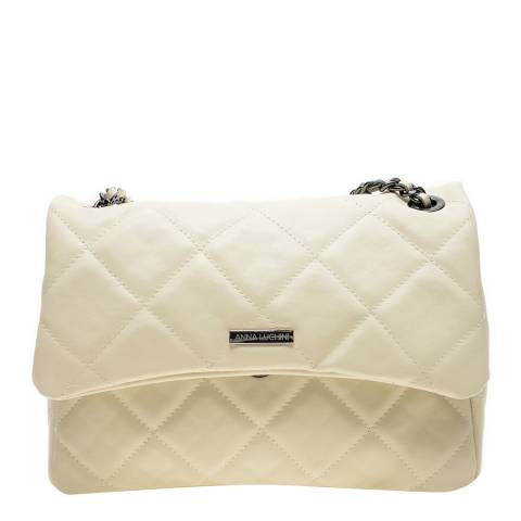 Anna Luchini Beige Leather Shoulder/Crossbody Bag