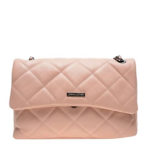 Anna Luchini Pink Leather Shoulder/Crossbody Bag