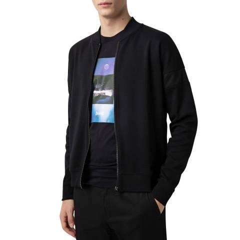 HUGO Black Dorleans Zipped Sweatshirt