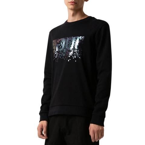 HUGO Black Dicago Cotton Sweatshirt