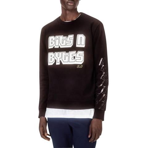 HUGO Black Djumper Cotton Sweatshirt