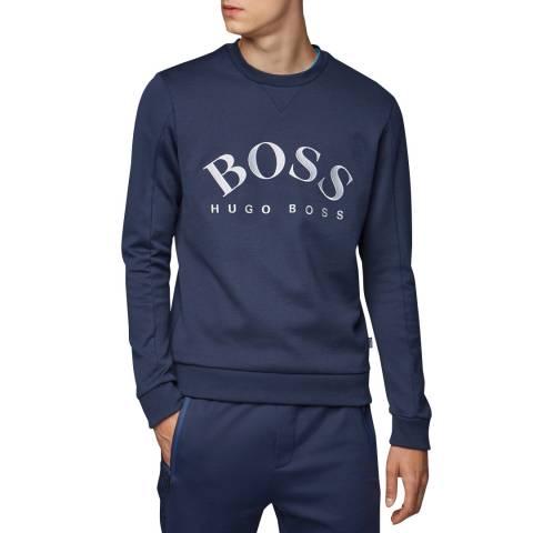 BOSS Navy Salbo Logo Sweatshirt