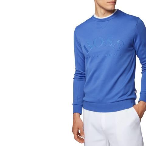 BOSS Blue Salbo Logo Sweatshirt