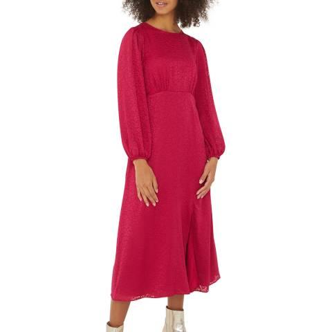 Oliver Bonas Pink Burnout Midi Dress