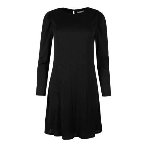 Oliver Bonas Black Plisse Dress